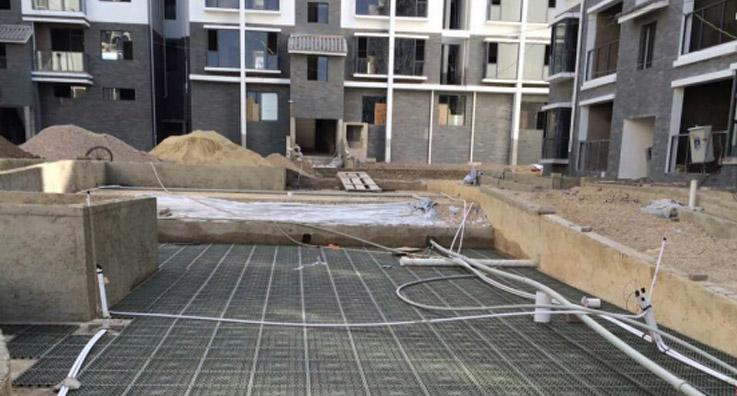 广场绿化工程蓄排水板施工案例