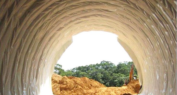 昆枢改造工程隧道防水板应用案例